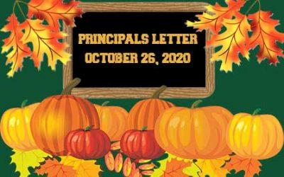 Principals Letter October 26
