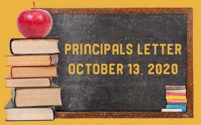 Principals Letter – October 13