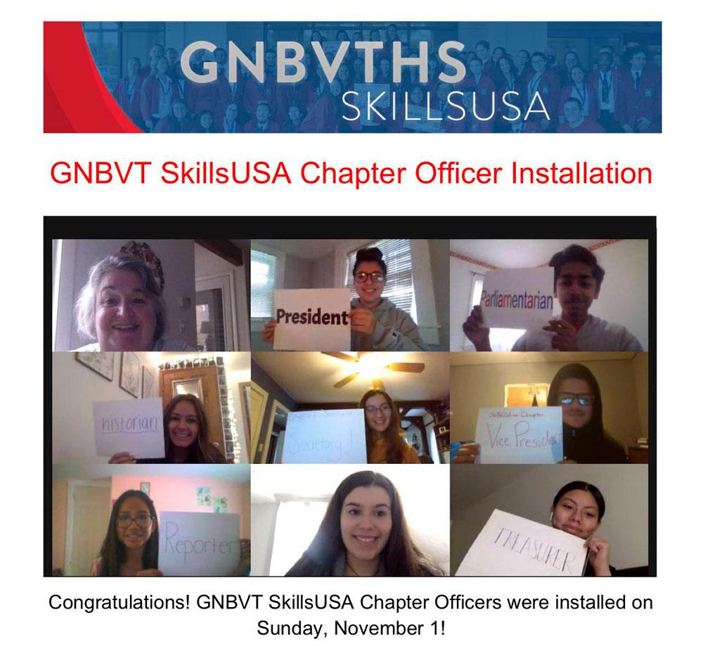 2020 - 2021 GNBVT SkillsUSA Chapter Officer Installation Ceremony held on Sunday November 1