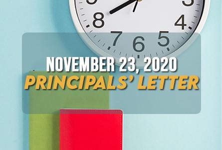 Principals Letter November 23, 2020 Feature Image
