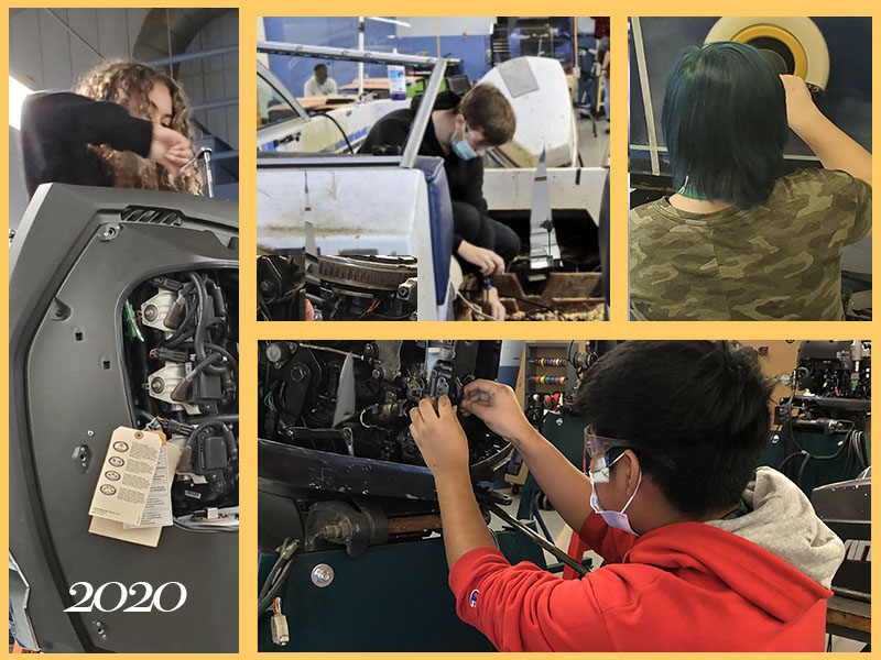 Collage of the marine technology exploratory shop