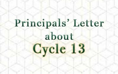 Principals Letter About Cycle 13