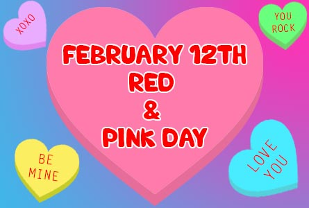 red and pink day feb 12th post