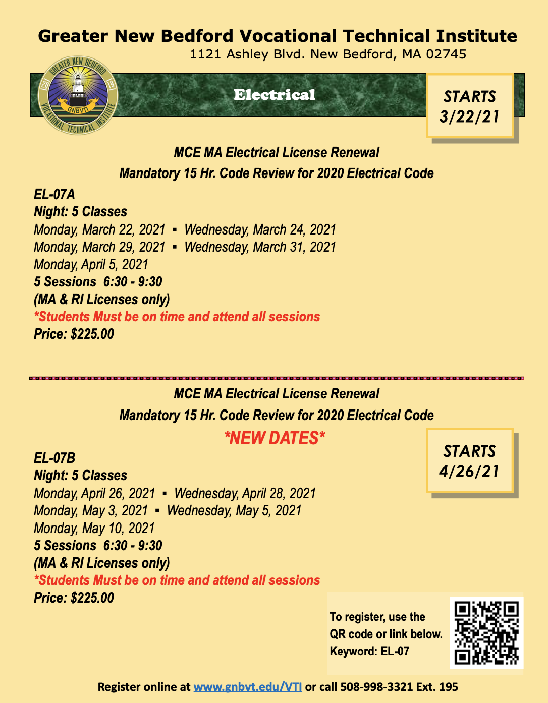Screenshot of the Electrical Pdf. - to read the pdf please download the flyer