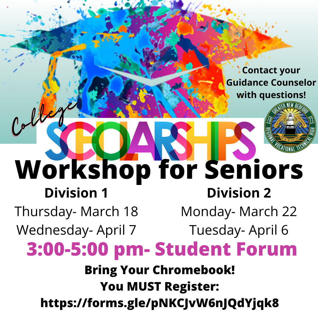 Flyer for the Workshop for College Bound Seniors click on button to download