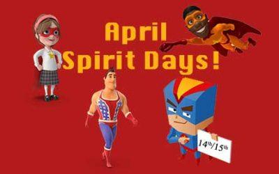 April Spirit Days!