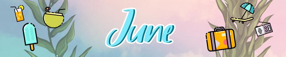 June Calendar Header