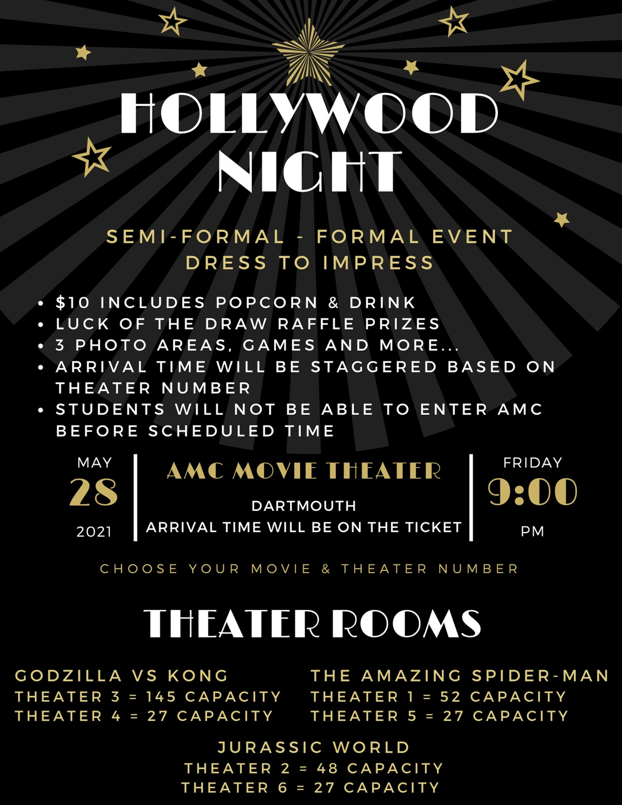 Seniors Hollywood Night - For readable information click on pdf button