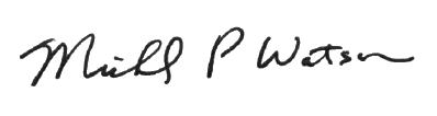 Mr. Watson Superintendent Signature