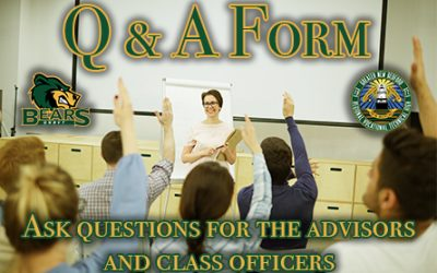 Advisors and Class Officers Q & A Form Information