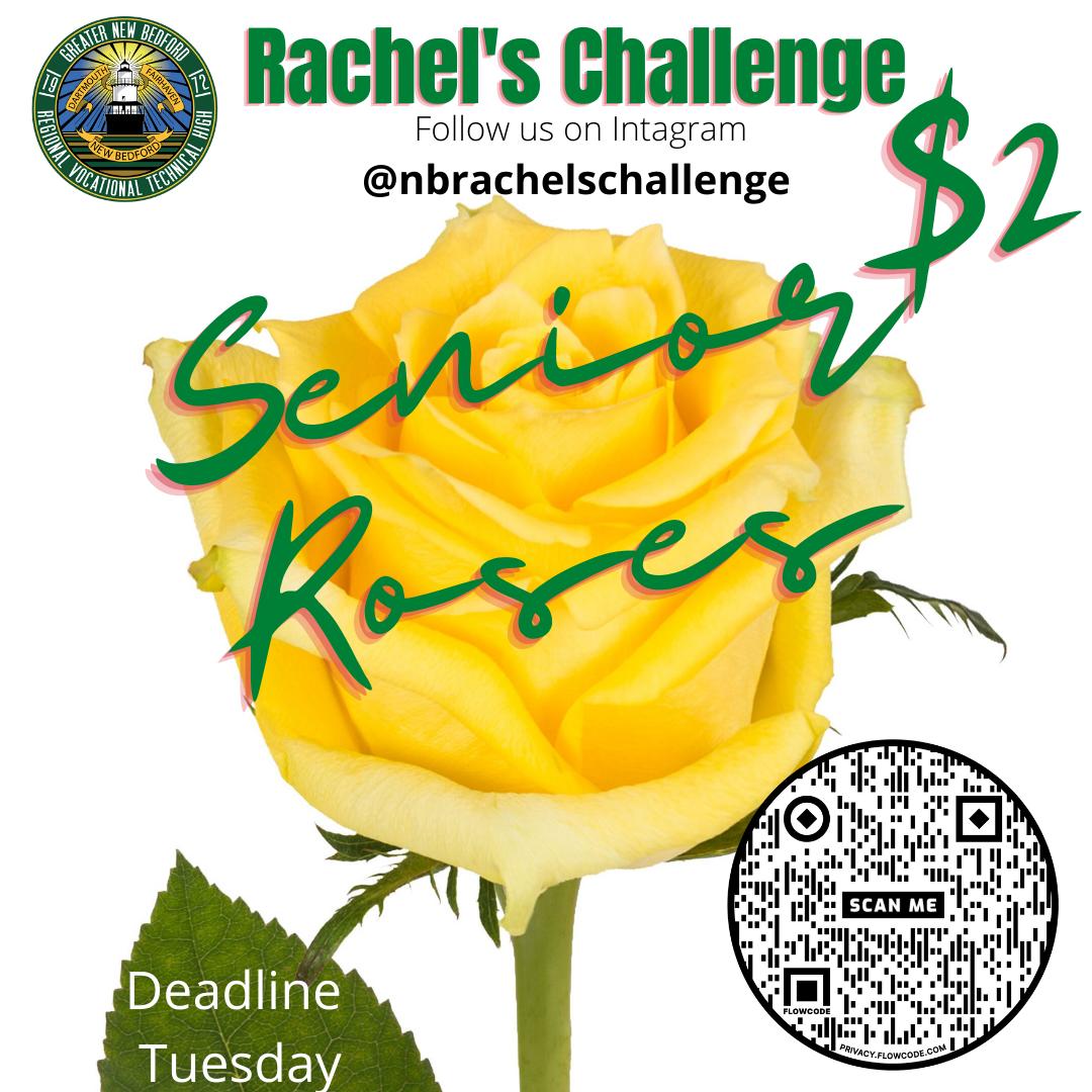 Senior Roses $2 Rachel's Challenge