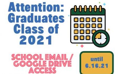 Class of 2021 Email Accounts / Google Drive