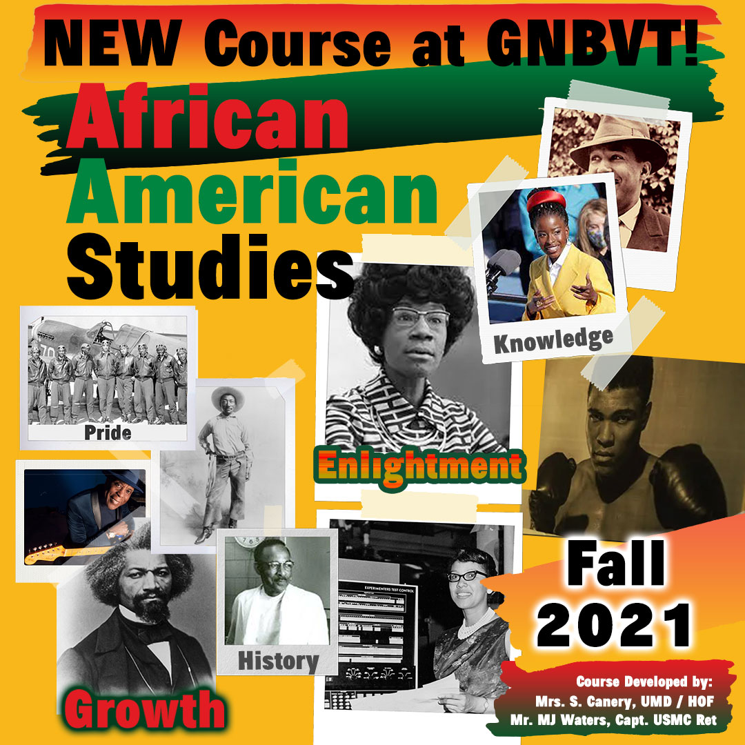 New Course at GNBVT African American Studies Fall 2021